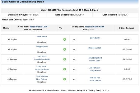 Match 1 vs Des Moines